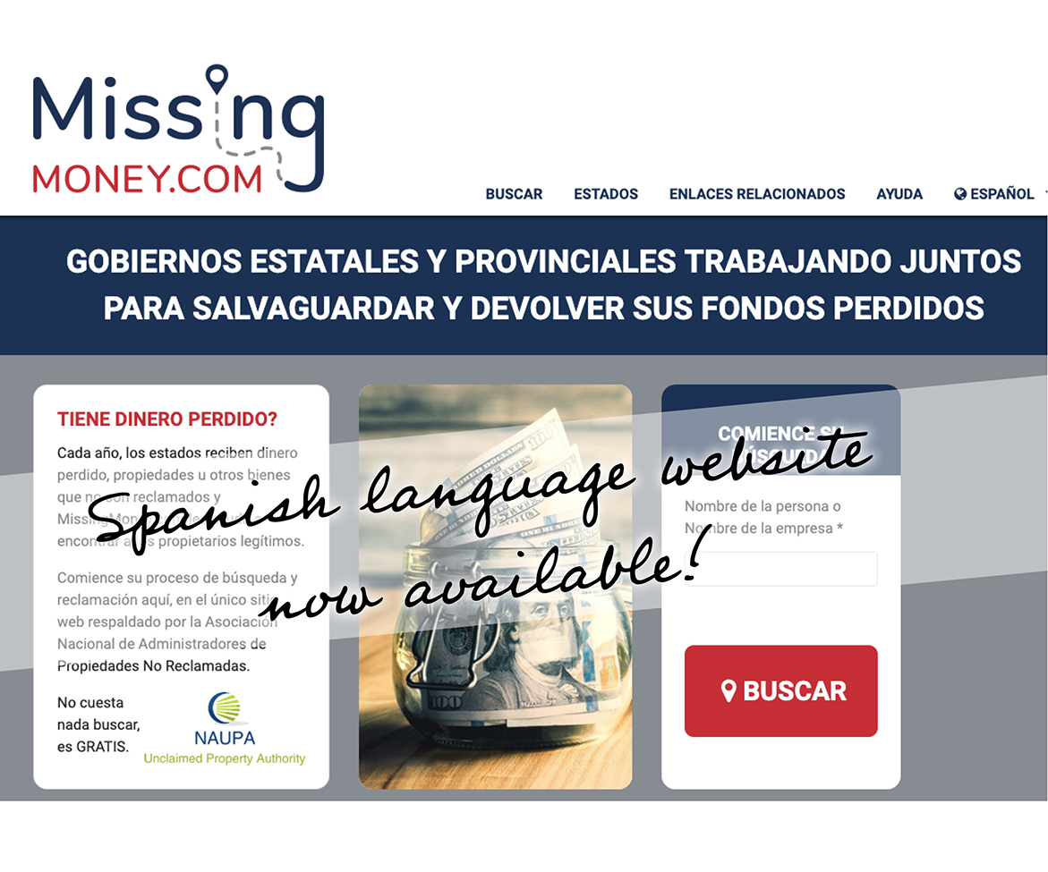 Spanish-language Version of MissingMoney.com Offers Free Search for Unclaimed Money