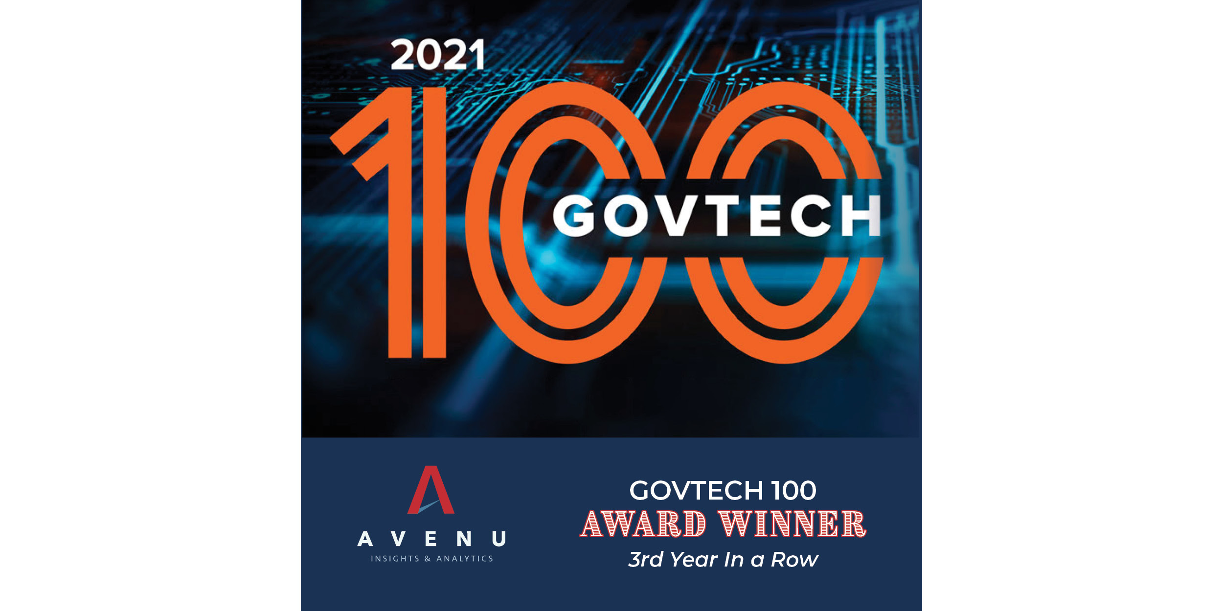 Avenu Insights & Analytics Recognized as GovTech 100 Company for Third Consecutive Year